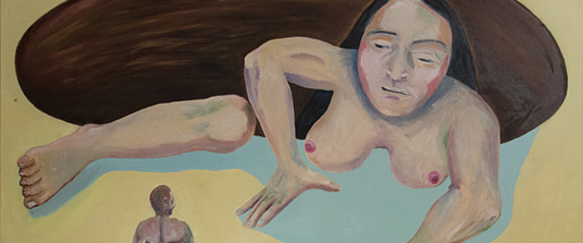 woman arising from a pit 97×130