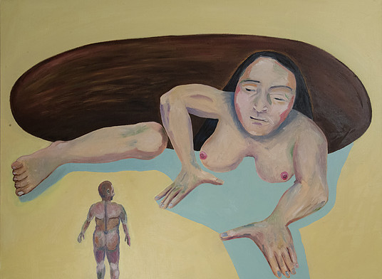 woman arising from a pit 97x130