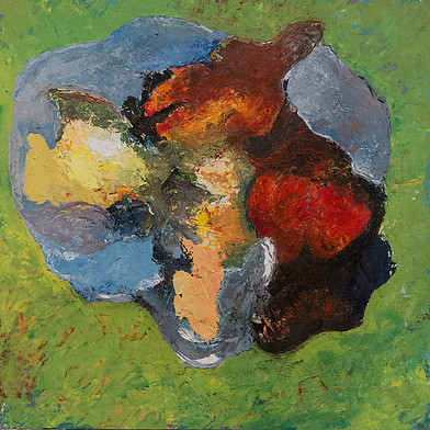 circuler head in form of skull 50x50
